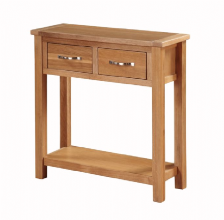 Hartford City Oak Large Hall Table
